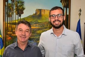Governador do Estado de Roraima, Antonio Denarium, e Álvaro Alves (2021)